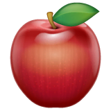 Red Apple Emoji on WhatsApp