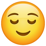 Relieved Face Emoji on WhatsApp