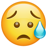 Sad But Relieved Face Emoji on WhatsApp