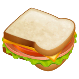 Sandwich Emoji on WhatsApp