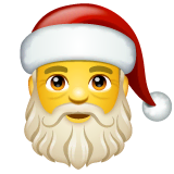 Santa Claus Emoji on WhatsApp