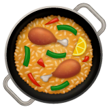 Shallow Pan Of Food Emoji on WhatsApp
