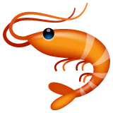 Shrimp Emoji on WhatsApp