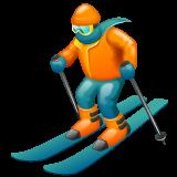 Skier Emoji on WhatsApp
