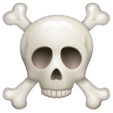 Skull and Crossbones Emoji on WhatsApp