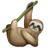 Sloth Emoji on WhatsApp