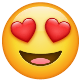 Smiling Face With Heart-Eyes Emoji on WhatsApp