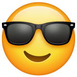 Smiling Face With Sunglasses Emoji on WhatsApp