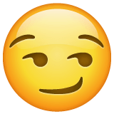 Smirking Face Emoji on WhatsApp