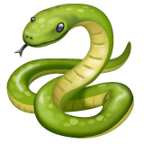 Snake Emoji on WhatsApp