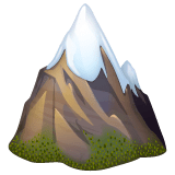 Snow-Capped Mountain Emoji on WhatsApp