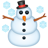 Snowman Emoji on WhatsApp
