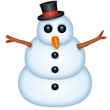 Snowman Without Snow Emoji on WhatsApp