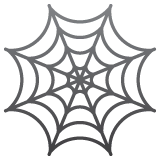 Spider Web Emoji on WhatsApp