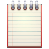 Spiral Notepad Emoji on WhatsApp