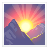 Sunrise Over Mountains Emoji on WhatsApp
