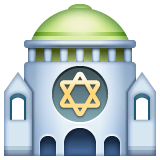 Synagogue Emoji on WhatsApp