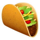 Taco Emoji on WhatsApp