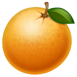 Tangerine Emoji on WhatsApp