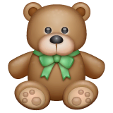 Teddy Bear Emoji on WhatsApp