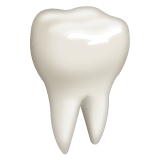 Tooth Emoji on WhatsApp