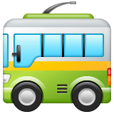 Trolleybus Emoji on WhatsApp