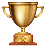 Trophy Emoji on WhatsApp