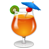 Tropical Drink Emoji on WhatsApp