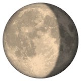 Waning Gibbous Moon Emoji on WhatsApp