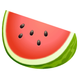 Watermelon Emoji on WhatsApp