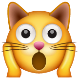 Weary Cat Emoji on WhatsApp