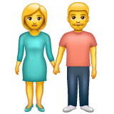 Woman And Man Holding Hands Emoji on WhatsApp
