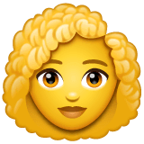 Woman, Curly Haired Emoji on WhatsApp