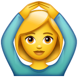 Woman Gesturing OK Emoji on WhatsApp