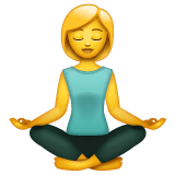 Woman In Lotus Position Emoji on WhatsApp
