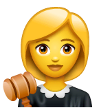 ️Woman Judge Emoji on WhatsApp