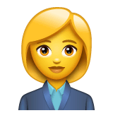 Woman Office Worker Emoji on WhatsApp