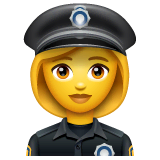 Woman Police Officer Emoji on WhatsApp