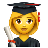 Woman Student Emoji on WhatsApp