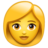Woman Emoji on WhatsApp