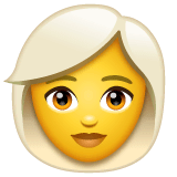 Woman, White Haired Emoji on WhatsApp