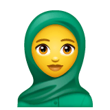 Woman With Headscarf Emoji on WhatsApp