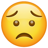 Worried Face Emoji on WhatsApp
