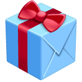 Wrapped Gift Emoji on WhatsApp