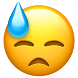 😓 Downcast Face With Sweat Emoji — Meaning, Copy & Paste