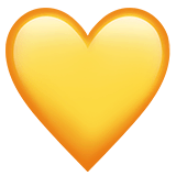 yellow heart emoji meaning copy paste