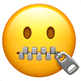 Zipper Mouth Face Emoji Meaning Copy Paste