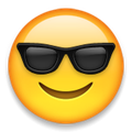 smiley with sunglasses